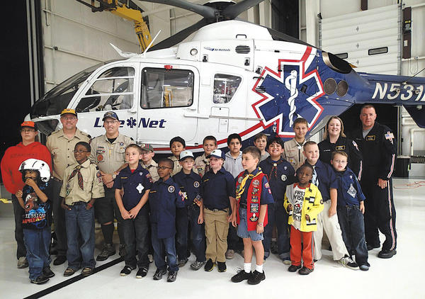 Cub Scout Pack 34 and two members of Troop 412 toured Life Net Medevac at Ryder Jet Center at the Hagerstown Regional Airport on Sept. 27.
