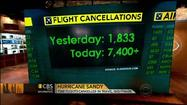 VIDEO Sandy cancels thousands of flights
