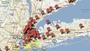 Crisis map: Hurricane Sandy