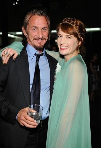 Sean Penn and singer Florence Welch attend the LACMA 2012 Art + Film Gala honoring Ed Ruscha and Stanley Kubrick presented by Gucci at LACMA.
