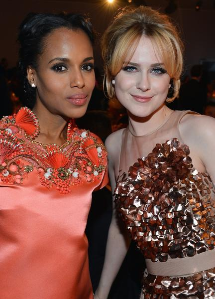 Kerry Washington and Evan Rachel Wood.