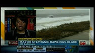 Hurricane Sandy whips up a storm of Baltimore TV coverage