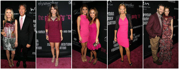Attendees at Elyse Walker's 8th annual Pink Party included, from left, host Michelle Pfeiffer and husband David E. Kelley, Elyse Walker, Maria Menounos and Giada de Laurentiis, Jeri Ryan, Judd Apatow and wife Leslie Mann