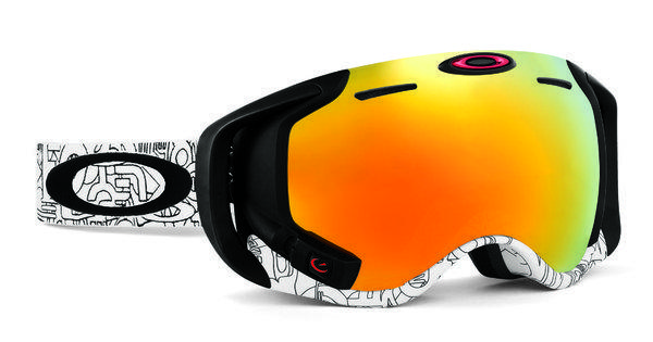 Oakley announced the new Airwave ski goggle Monday. It has a built-in display and can connect to the iPhone or Android phones.