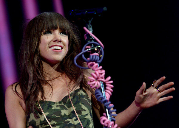 AskMen's 99 most desirable women: Carly Rae Jepsen performs at Staples Center in October 2012.