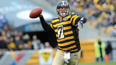 Pittsburgh Steelers quarterback Ben Roethlisberger looks to throw down field against the Washington Redskins on Sunday.
