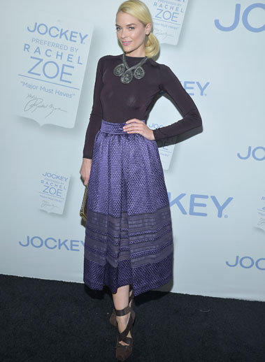 "Actress Jaime King celebrates the launch of Rachel Zoe's ""Major Must Haves"" from Jockey at Sunset Tower on Oct. 17 in West Hollywood."