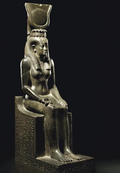 Statue of the Egyptian goddess Isis, which set a world record at Christie's.