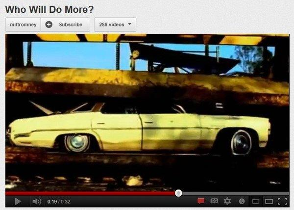"A screen grab from a commercial by the Mitt Romney campaign titled ""Who Will Do More?"""