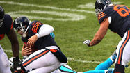 Jay Cutler was sacked six times Sunday, which usually is grounds for putting the offensive line in solitary confinement with no visitation privileges.