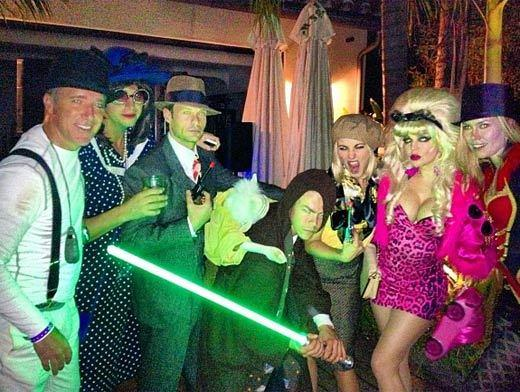 Celebrity Halloween costumes 2012: Ryan Seacrest, Derek and Julianne Hough, et. al.