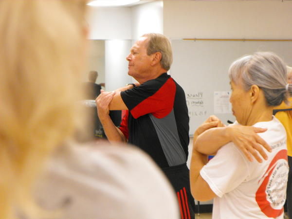 Caption: John Keller of Gurnee leads a recent 'Active Mature Adults' fitness class at the Vernon Hills YMCA. Keller has been leading the class for seven years.