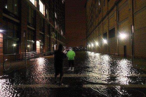 The Meatpacking District of New York City during the storm surge Monday night.