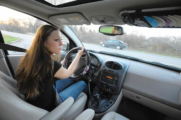 "Alexis Busch, 17, of west suburban Campton Hills, says teens are paying attention to ""don't drink and drive"" messages from school administrators: ""We're listening,"" she says."