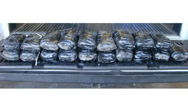 El Centro Sector Border Patrol seized 20 packages of methamphetamine.