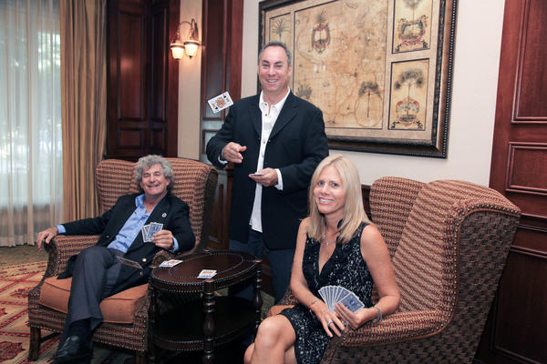 "Craig Konhauzer, left, Marc Gillman and Susan Gringauz promote Crohn's & Colitis Foundation of America's casino themed ""An Evening of Hope,"" which will take place on Nov. 16 at the Hollywood Beach Marriott."