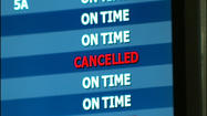 Flights are still going out of Roanoke Regional Airport (ROA) but all flights headed to the Northeast are canceled.