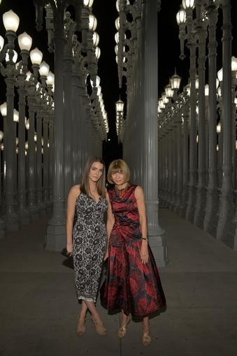 Bee Shaffer, left, and Vogue editor in chief Anna Wintour.