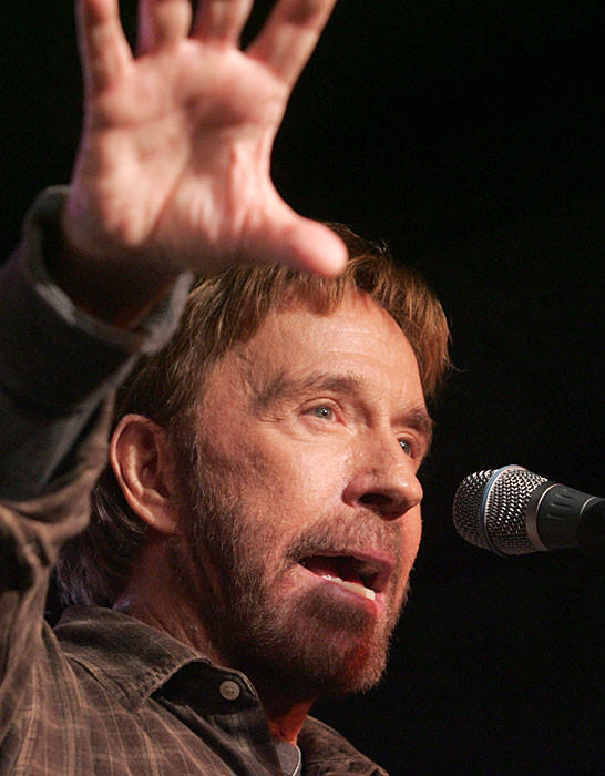 "The action star has come out in support of Mitt Romney and <a href=""http://www.adrants.com/2012/09/chuck-norris-channels-ronald-reagan-in.php"">posted a pro"