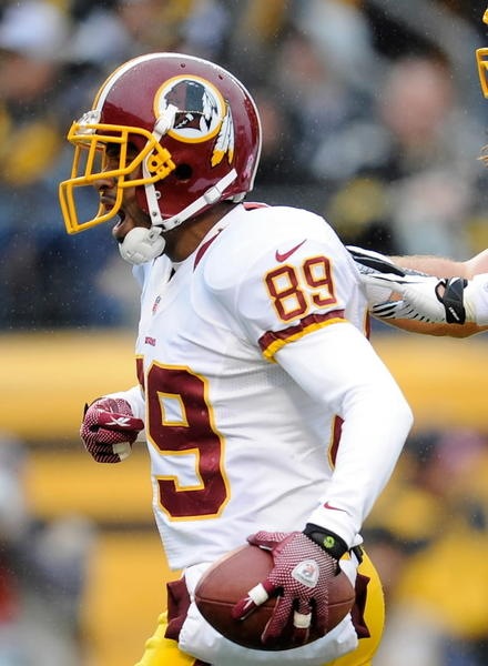 I got news for you, Pierre Garcon owners: He ain't coming back anytime soon. Not this week for sure. Maybe after the bye next week, but I am getting pessimistic about that, with no good news coming from Team Frenchy in quite some time. Enter Moss, who has literally been in the league since the '60s (literally!). He only racked up 21 yards last week, but put it in the hole (my latest euphemism for a TD) for the fourth time in as many weeks. <br><b>Last week:</b> 4 receptions, 21 yards, 1 TD<br><b>This week:</b> vs. Panthers