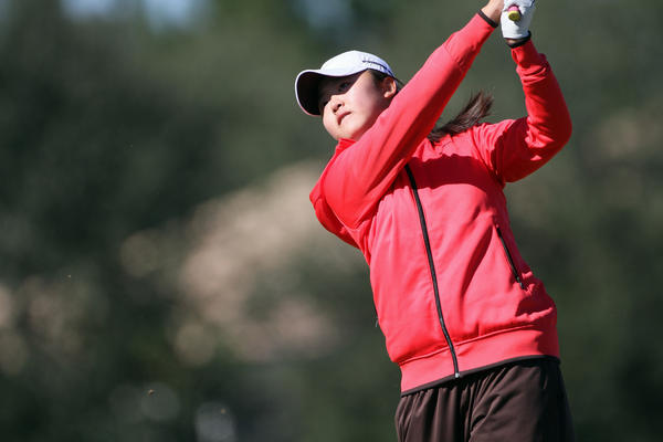 Simin Feng of Windermere Prep, plays during the Class 1A state girls golf tournament at Mission Inn Las Colinas course, on Tuesday, October 30, 2012.
