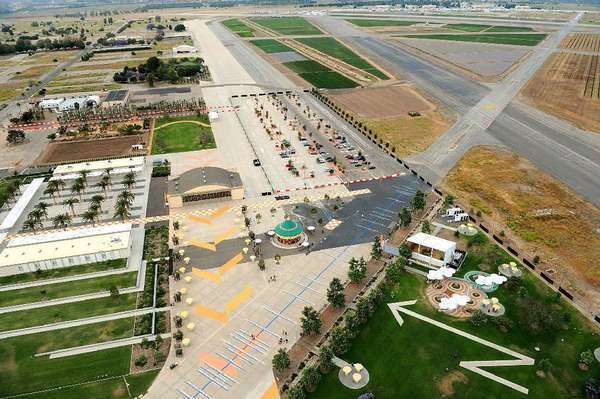 Ten years ago, voters approved turning the former El Toro Marine base in Irvine into a sprawling public park, seen here from the Great Park Balloon, instead of an airport.