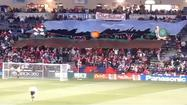 Section 8 'Super Mario Bros.' tifo from September 2010