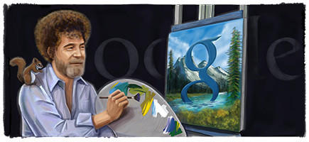 "Google's doodlers paid homage to Ross, a man who inspired many people to give art a try, on what would have been the painter and television personality's 70th birthday.<br><b>More: </b> <a href=""http://www.latimes.com/entertainment/tv/showtracker/la-et-st-bob-ross-a-pbs-phenomenon-gets-his-google-due-20121029,0,3640882.story"" target=""_blank"">A pre-internet viral video star?</a>"