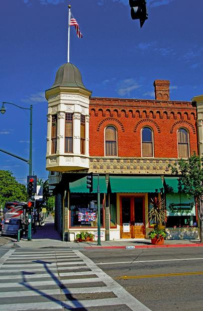 Downtown Santa Paula features buildings from a bygone era.