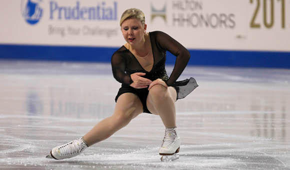 Rachael Flatt at 2012 Skate America.  Was it her last competition?  (Mike Nelson - US Presswire)