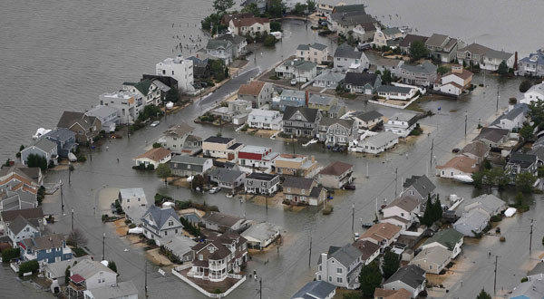 Homes are flooded in Seaside, N.J.