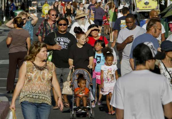 A crowd in Lancaster in 2011. Scientists are delving into the genetic variations that contribute to human diversity.
