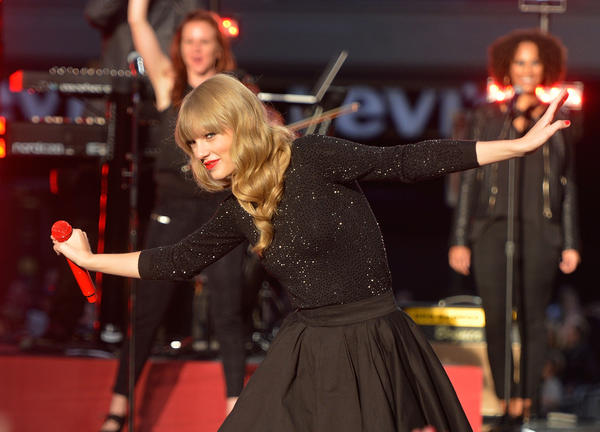 "Taylor Swift, shown during her recent performance on ""Good Morning America,"" sold 1.21 million copies of her new album ""Red"" in one week."