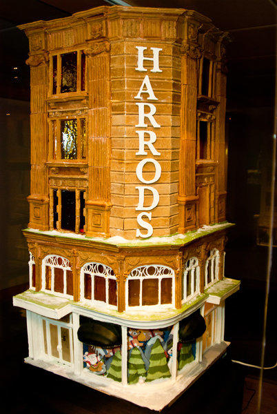 The Inn at Laurel Point, in Victoria, Canada, hosts a gingerbread competition that also is a fund-raiser for Habitat for Humanity Victoria. The entrants last year had an international flavor and included this rendering of Harrods as well as a version of the Eiffel Tower.