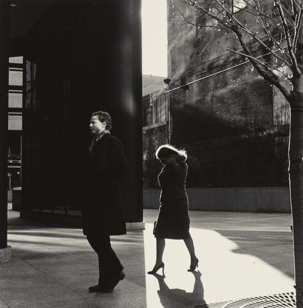City Whispers, Philadelphia, 1983, Gelatin silver print, by Ray K. Metzker.
