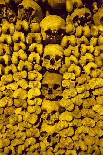 If you're visiting Paris and the weather topside isn't to your liking, you can always go underground, to the Catacombs, which contain more than six million skeletons.