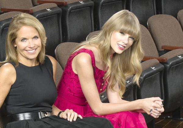 "Katie Couric, left, with Taylor Swift on ""20/20."""