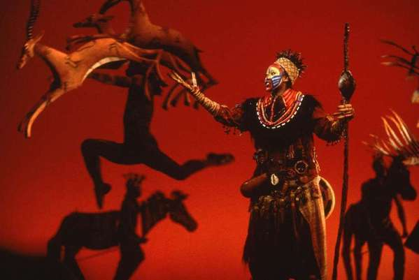 "A scene from Disney's ""The Lion King,"" which is running at the Minskoff Theatre in New York."