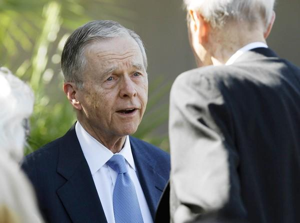 Former California Gov. Pete Wilson, shown last year, joined former Govs. Gray Davis and George Deukmejian at a news conference Tuesday to oppose Proposition 34, which would end the death penalty in California.