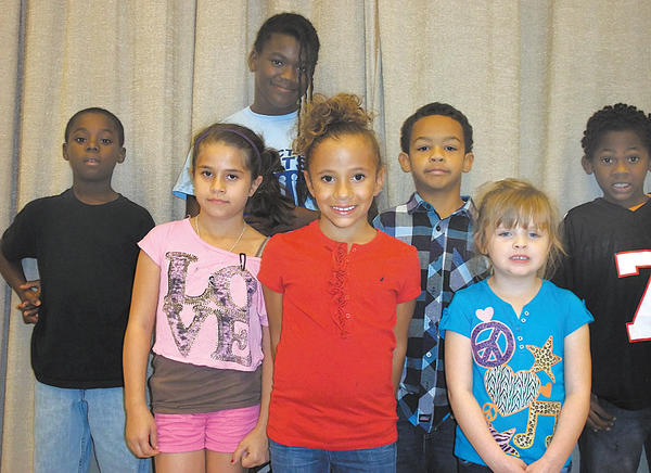 Students were chosen star athletes of the month for September at Winter Street Elementary School. Row one, from left, Justine Duncan, Bre Himes and Abigail Duff. Row two, Da'madre Bowens, Jamaica Henry, Antonio Balls and Leviticus Ricks.