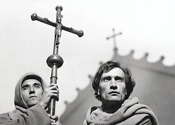 "Antonin Artaud, right, in ""The Passion of Joan of Arc."""