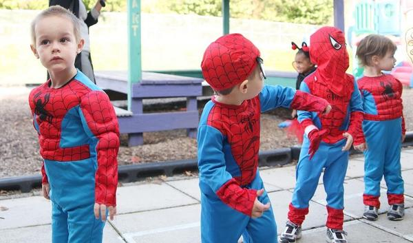 In 2011, Isaac declared he wanted to be Spider-Man, and I couldn't figure out how he even knew who Spider-Man was. Costume day at daycare revealed that the 3-year-olds had been plotting against us. Do you think they had a meeting?