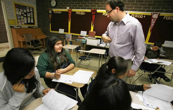 Kyle Hunsberger, an L.A. Unified math teacher, volunteered to participate in the district's Academic Growth Over Time program.