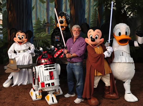 George Lucas with his new friends.