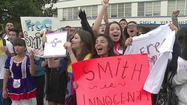 CHULA VISTA, Calif. -- Hundreds of Chula Vista High School students rallied Wednesday morning in support of a popular teacher accused of having a sexual relationship with an underage student.