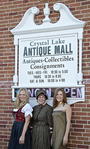 From left, Valerie Heady, Thelma Flagg and Pamela Heady are opening the Crystal Lake Antique Mall.