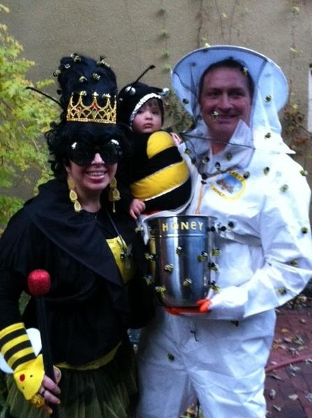 """Here are our family costumes at the Patterson Park Lantern Parade & Balt ZooBoo 2012.""  -- Audrey, Jocelyn & Todd Sabiston"