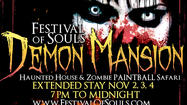 Halloween may be ending, but the Haunted House Demon Mansion and Zombie Safari at Gulfstream Park Racing & Casino is staying open through Sunday, officials announced today.