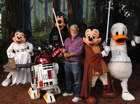 George Lucas and the Disney family
