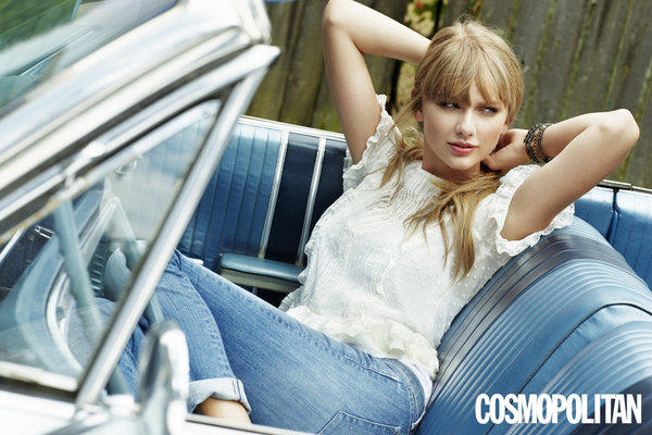 Taylor Swift poses in Cosmopolitan magazine.